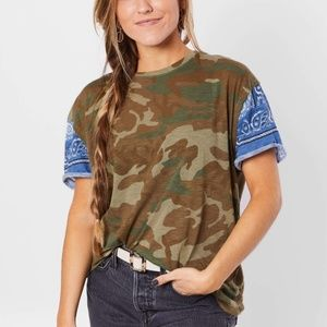 NWT Free People Clarity Camo T-Shirt Small